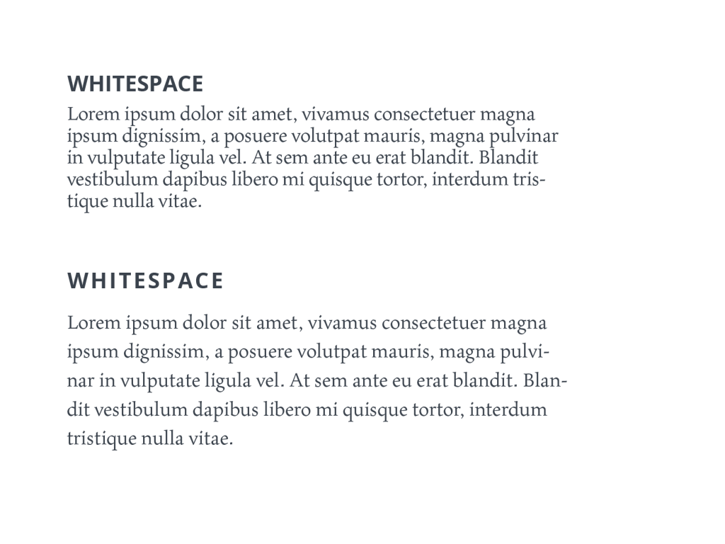 In Case The White Space Is Not Balanced Copy Will Be Hard To Read Thats Why Negative Matters As Much Any Other Typography Element