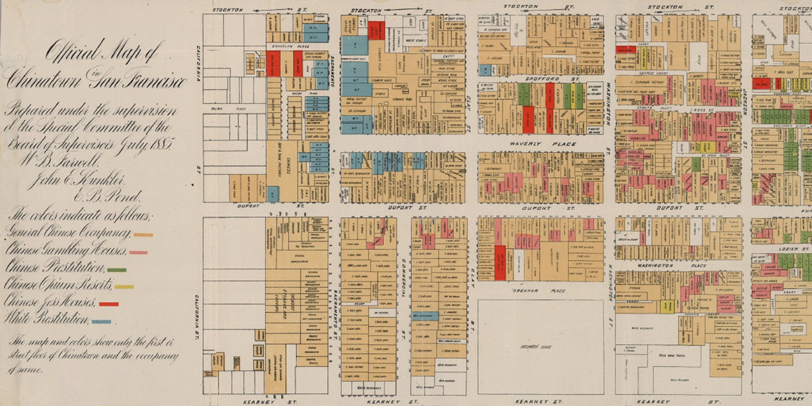 Opium and Prostitutes: Chinatown Map of 1885 — The Bold Italic