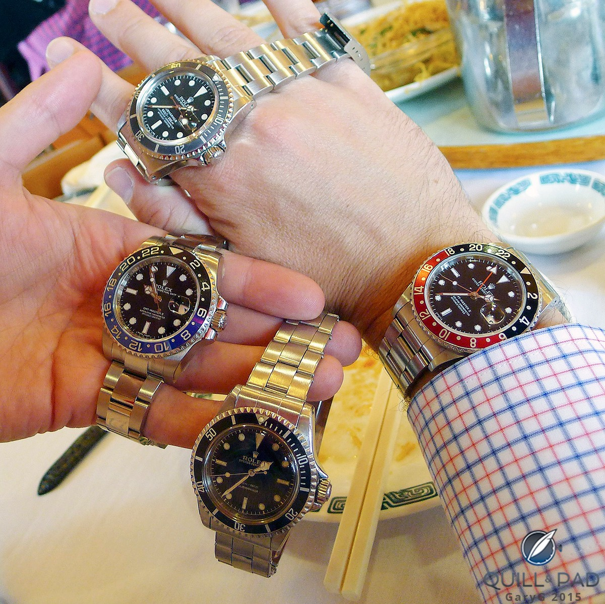 Some friends' Rolexes as seen at a recent group lunch