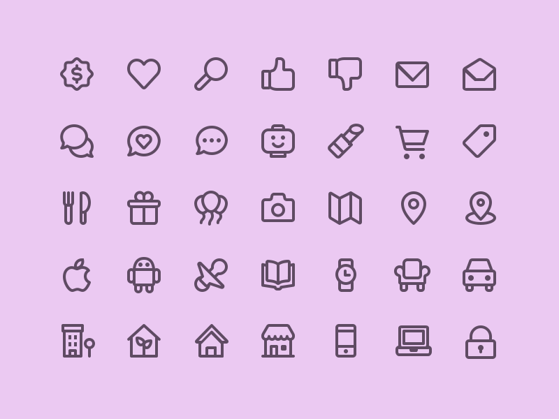 Icons of the week — #61 – The Iconfinder Blog