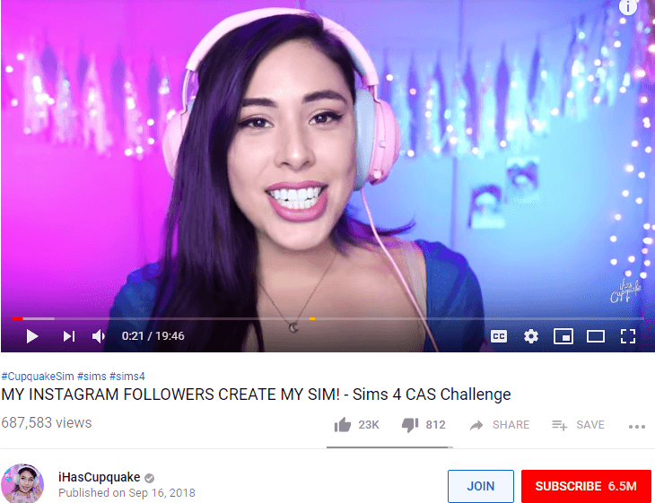 d204b85606f294 She posts gaming videos, and baking and DIY videos on her channel. She also  has her own online shop with a range of clothing items and accessories.