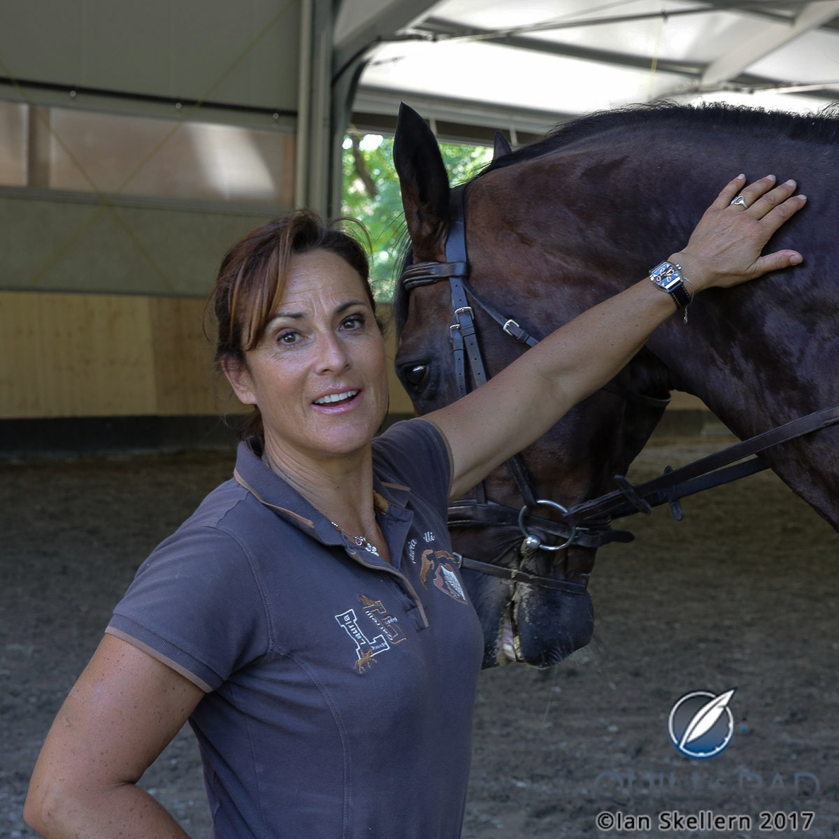 International dressage Grand Prix winner Antonella Joannou wearing her Antoine Preziuso Fire Fly