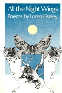 Book cover: All the Night Wings, poems by Loren Eiseley