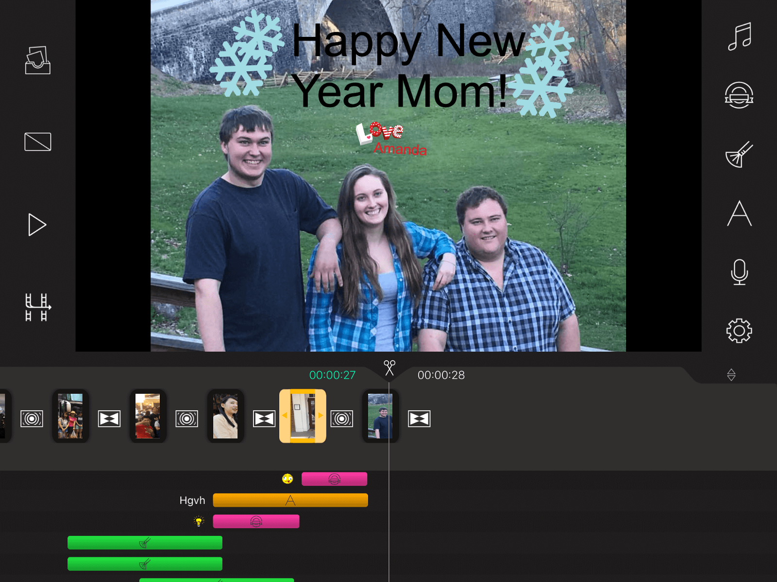New Year's Video Card Example