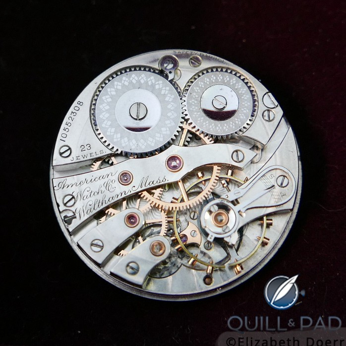 A refurbished historical Waltham movement at the Struthers workshop