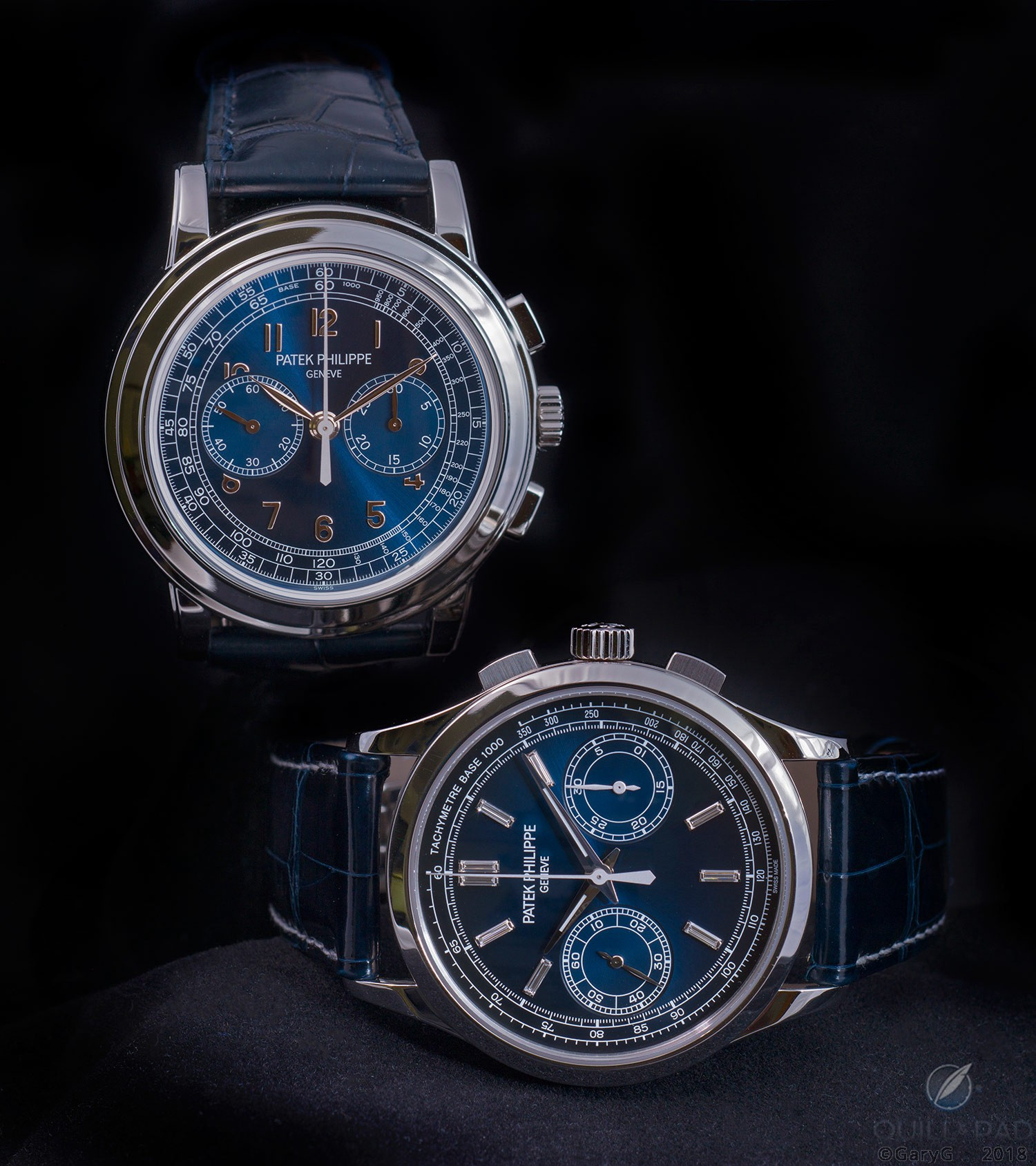 """Parting shot: Patek Philippe Reference 5070P-013 """"London"""" (left) and Reference 5170P"""