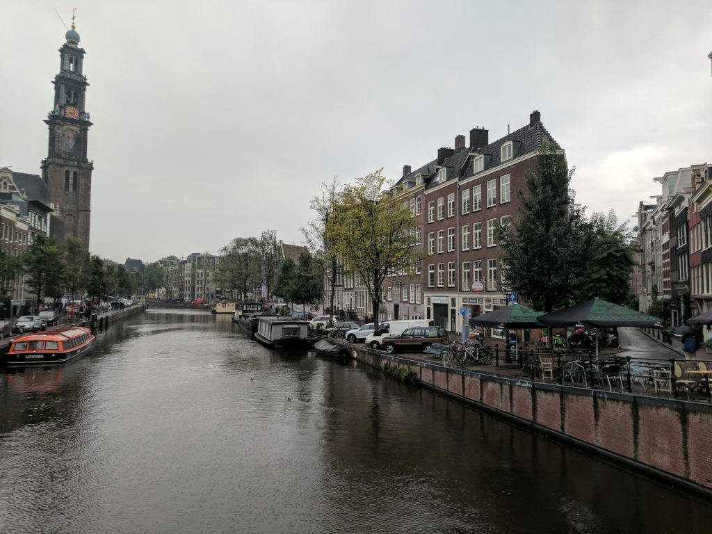 Right near the Anne Frank House