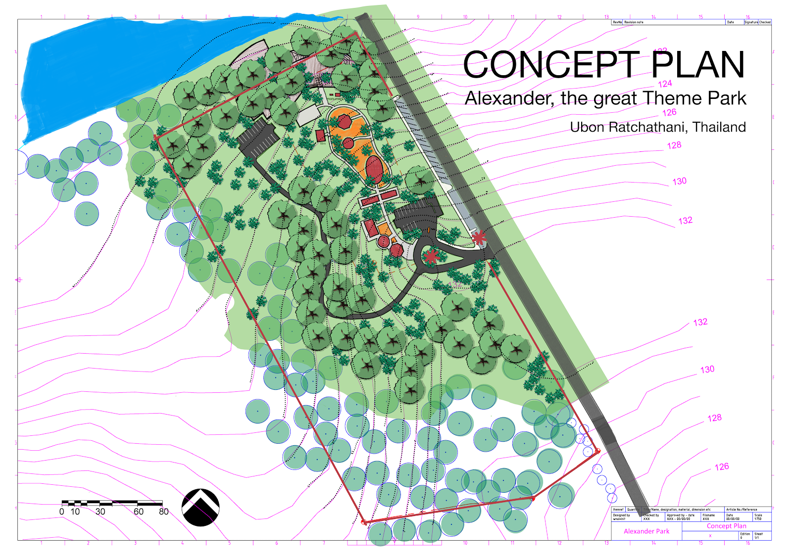 Perfect A Concept Plan For Alexander The Great Theme Park.