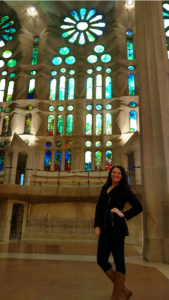 Me at the Sagrada Familia in Barcelona