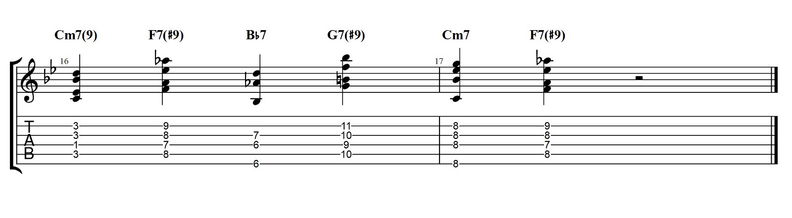 Walking Bass And Chords Bb Blues Jazz Guitar Lesson