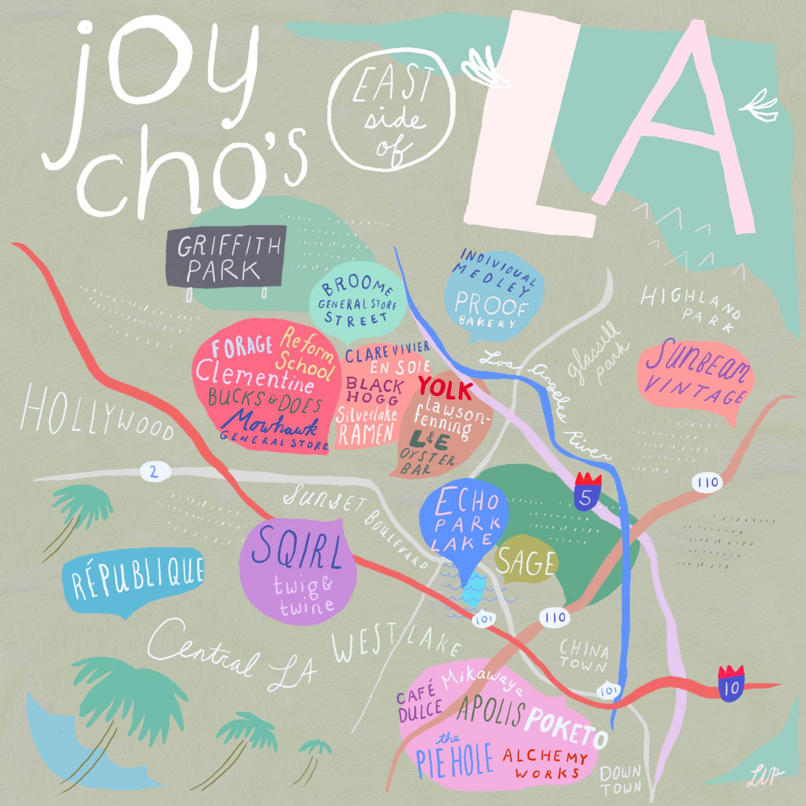 Unusual Maps Of Los Angeles  The Bold Italic  San Francisco - Los angeles k town map