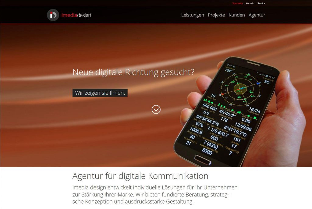 digitale Wirtschaft imedia-Website