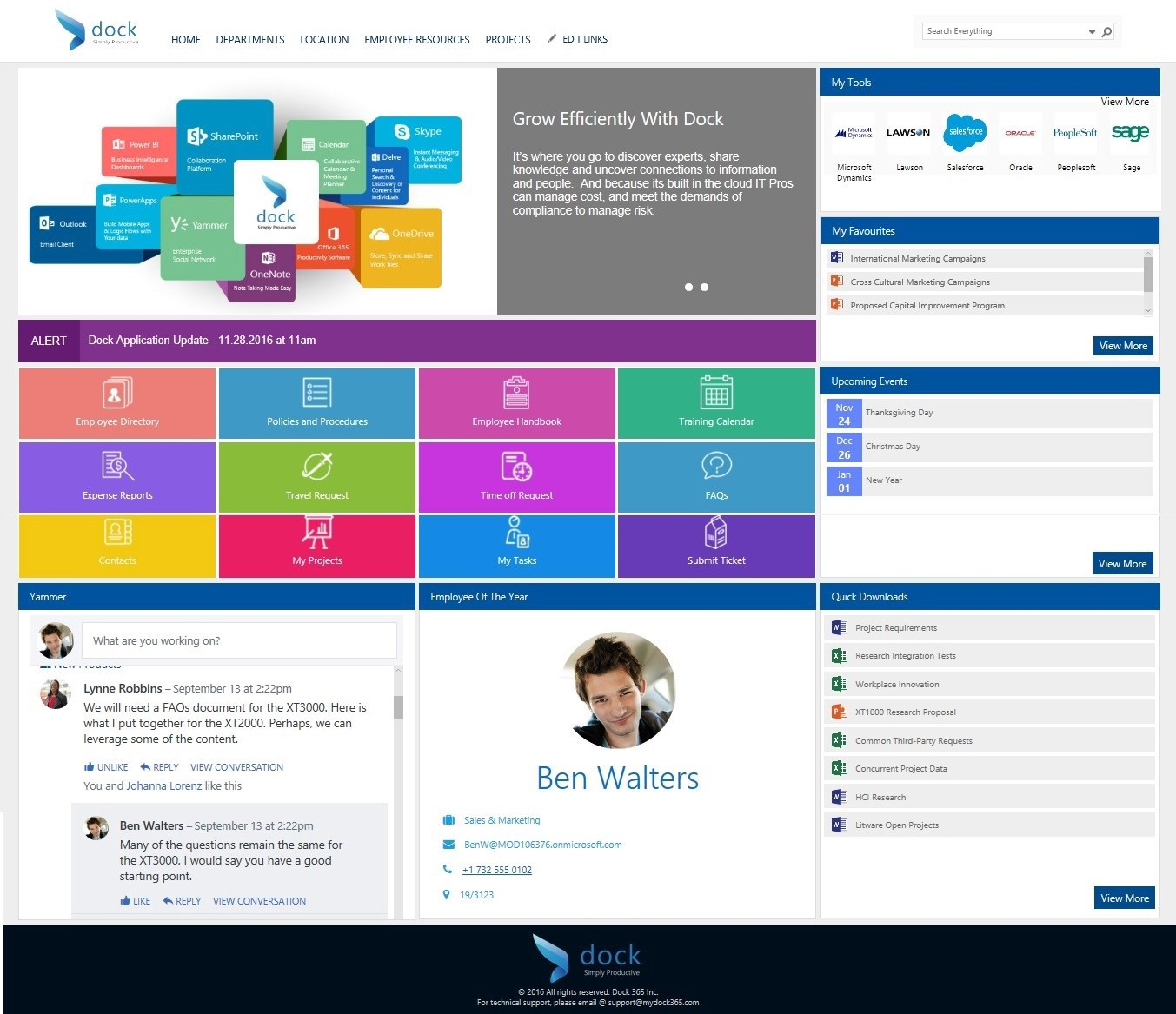Why sharepoint online for your company intranet dock for Company intranet template