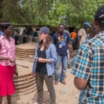 Sophie speaking with beneficiaries in Kakuma about sanitation