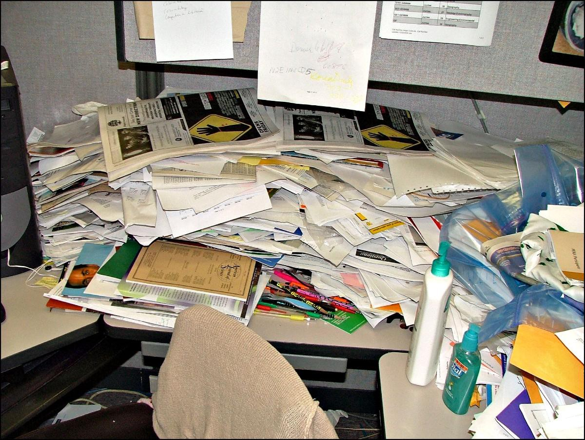 Title: World's Messiest Office Cubicle Discovered in Colorado   Author: Jeffrey Beall   Source: denverjeffrey   License: CC BY-ND 2.0