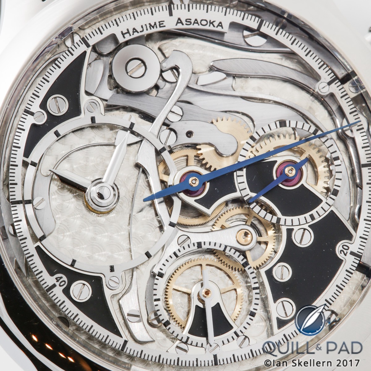Close up look dial side of the Hajime Asaoka Chronograph