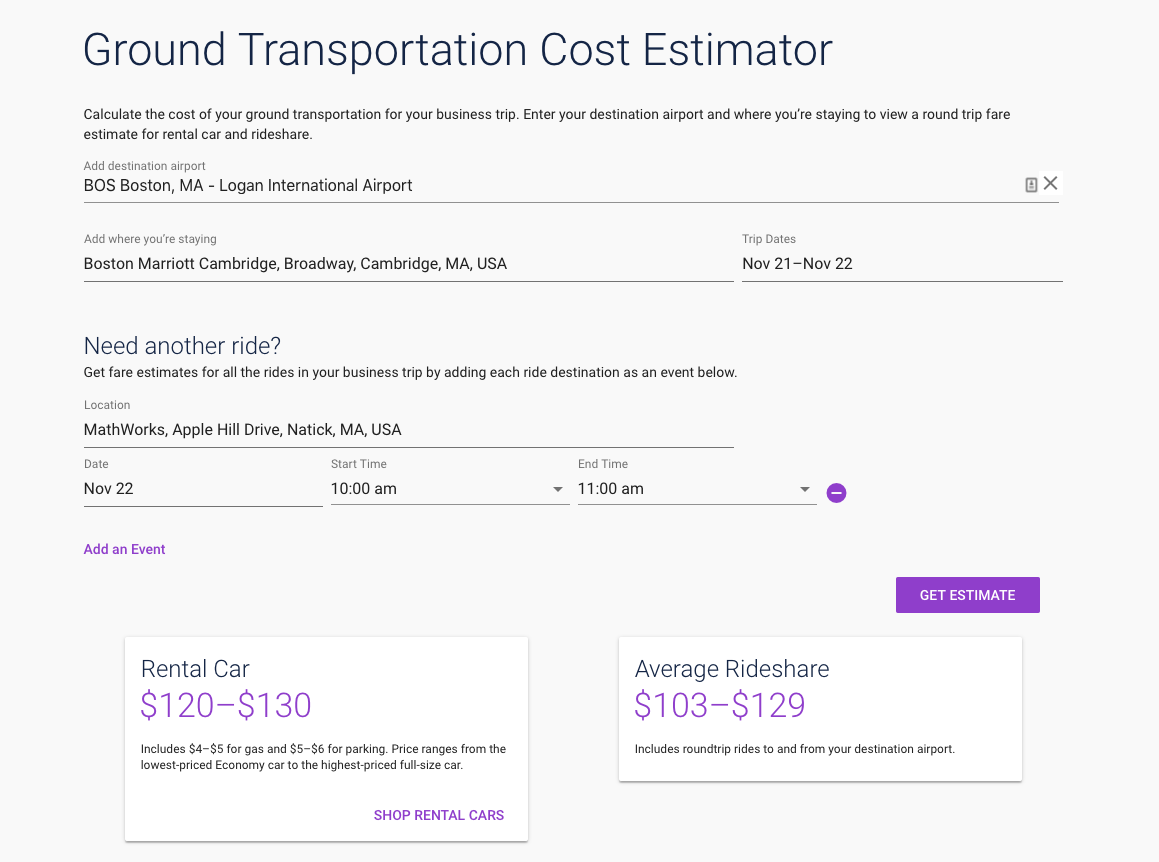 rideshare or rental car informing decisions with simple math