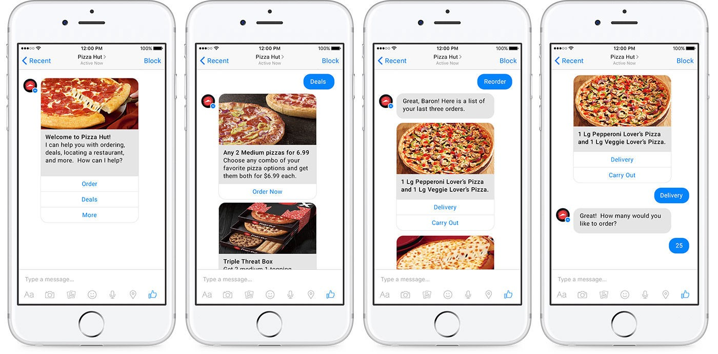 Order pizza from Facebook Messenger with Pizza Hut's new chatbot