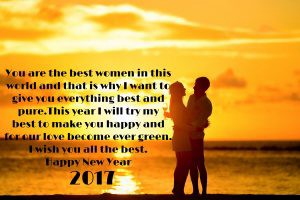 this year i will try my best to make you happy and for our love become ever green i wish you all the best