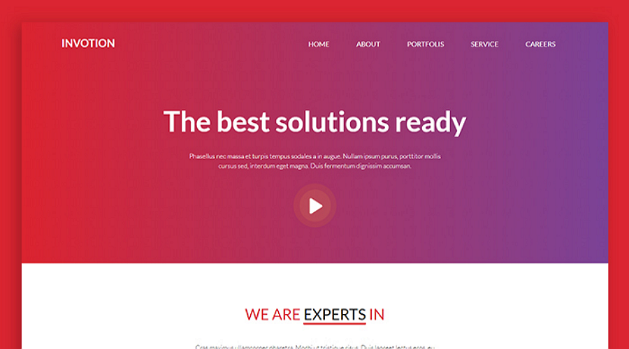 invotion a free responsive and creative html css website template
