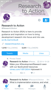 High five Research to action twitter screenshot