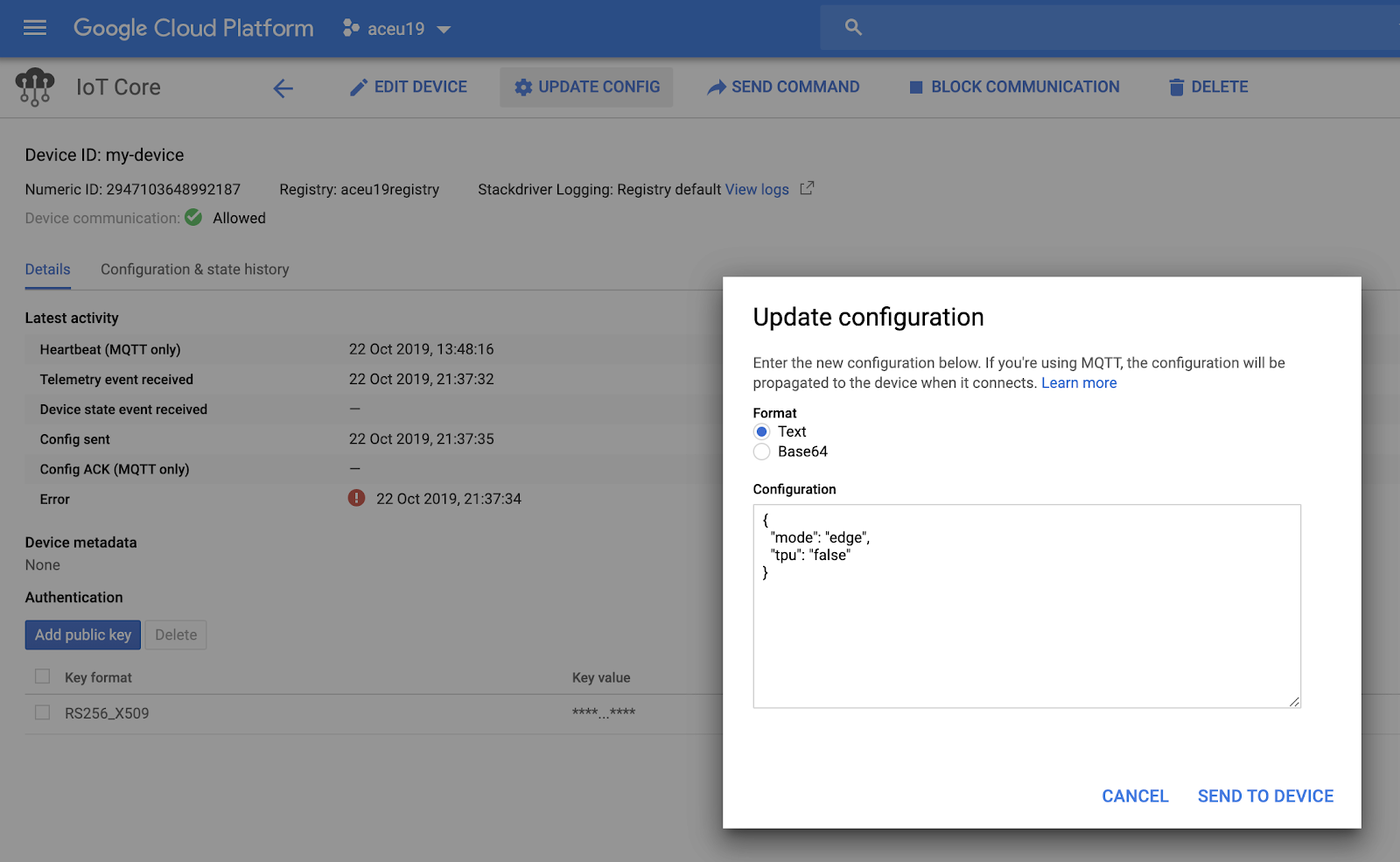 Updating the configuration of my device through MQTT