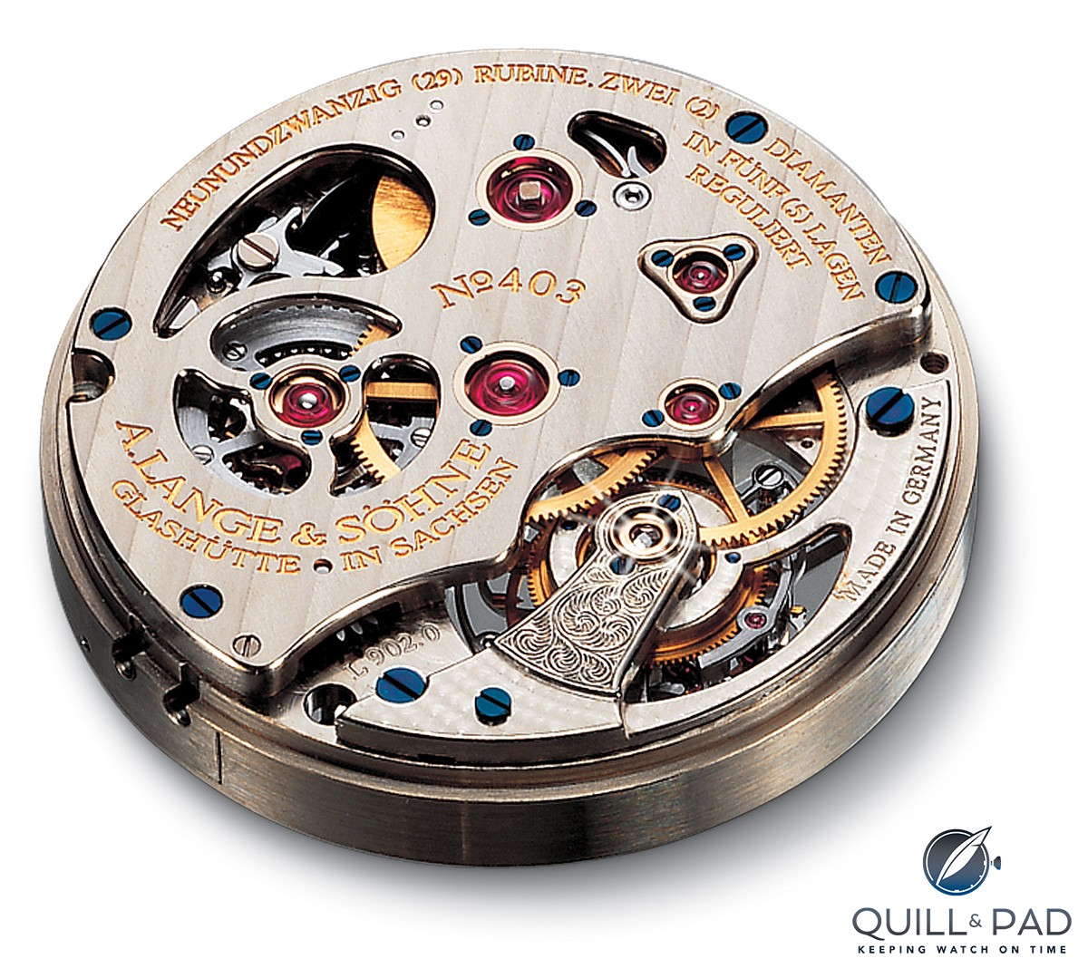 Caliber L902.0 of the A. Lange & Söhne Tourbillon Pour le Mérite