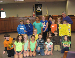 Third-graders from Marlton Elementary School performed skits, sang songs, danced, read poems, and stumped Mayor Randy Brown with riddles during Evesham Township's annual Arbor Day Ceremony at the Evesham Township Municipal Building on April 24.