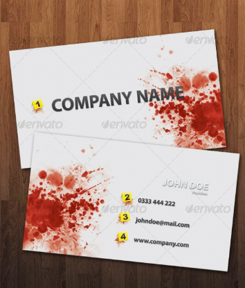Business card ideas toriq hj medium just look at the card the name victoria vaughan on top very cool and unique enter the liquid is red to look like blood reheart Images