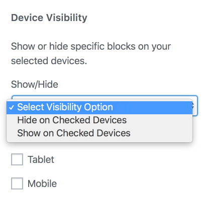 Block Device Visibility Option