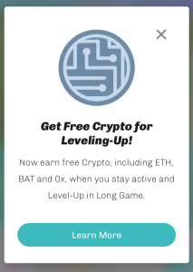 Get Free Crypto for Leveling-Up!