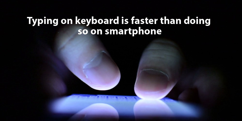What does it mean when someone text you type faster