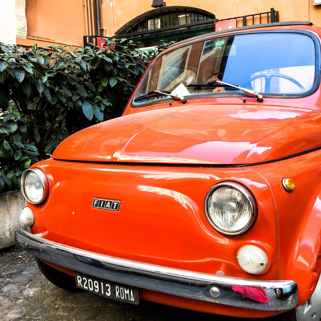 All roads lead to Rome, especially in a fiat 500