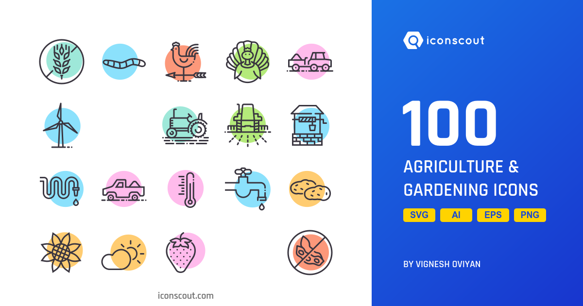 Agriculture & Gardening icons by Vignesh Oviyan