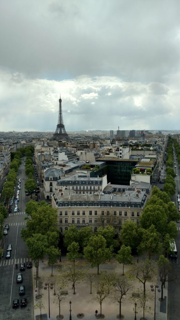 View from the Arc de Triomphe