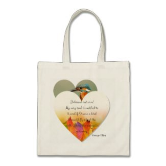 Autumn and Fall Inscribed Quote Tote Bag