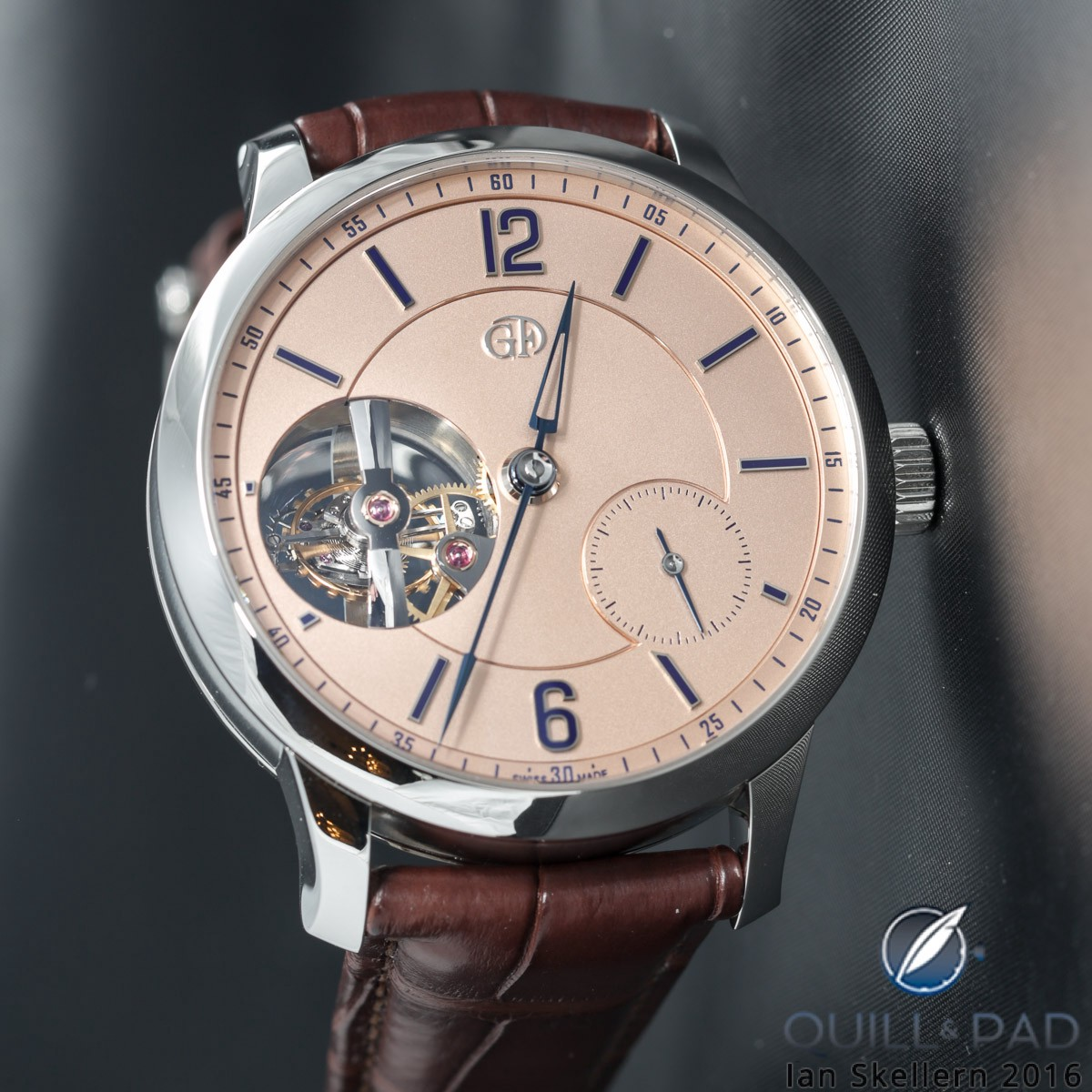 Greubel Forsey Tourbillon 24 Seconds Vision in platinum with salmon-colored dial