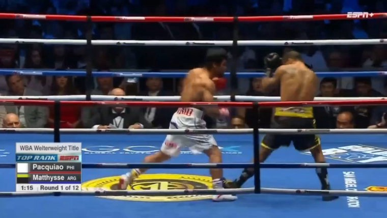 Pacquiao vs. Matthysse: First Round