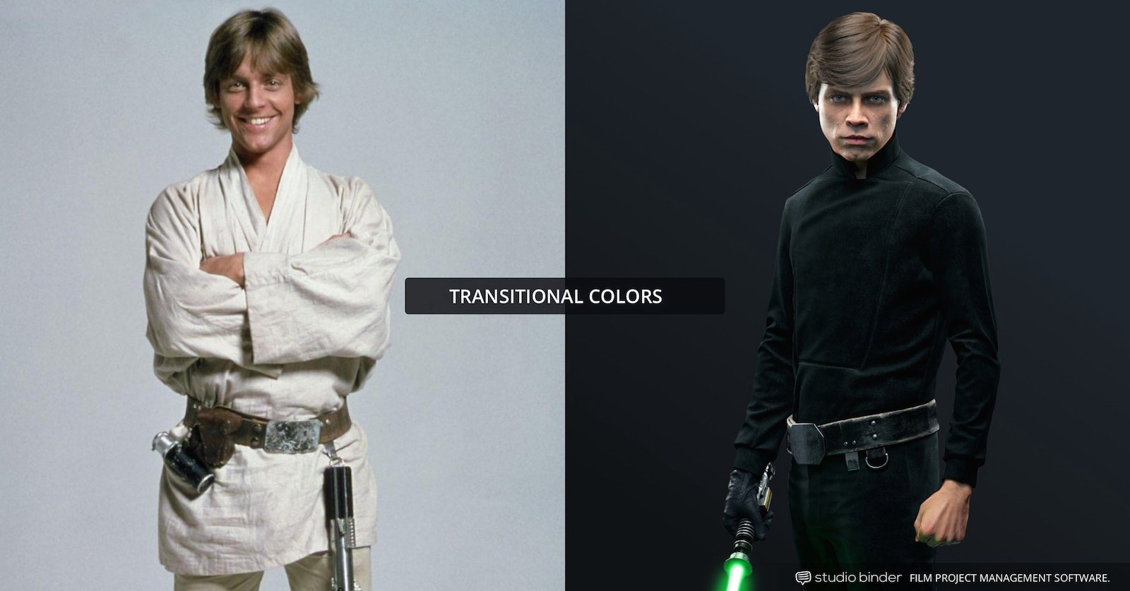 How to Use Color in Film – Example of Movie Color Palette and Scheme – Transitional – Luke Skywalker-min