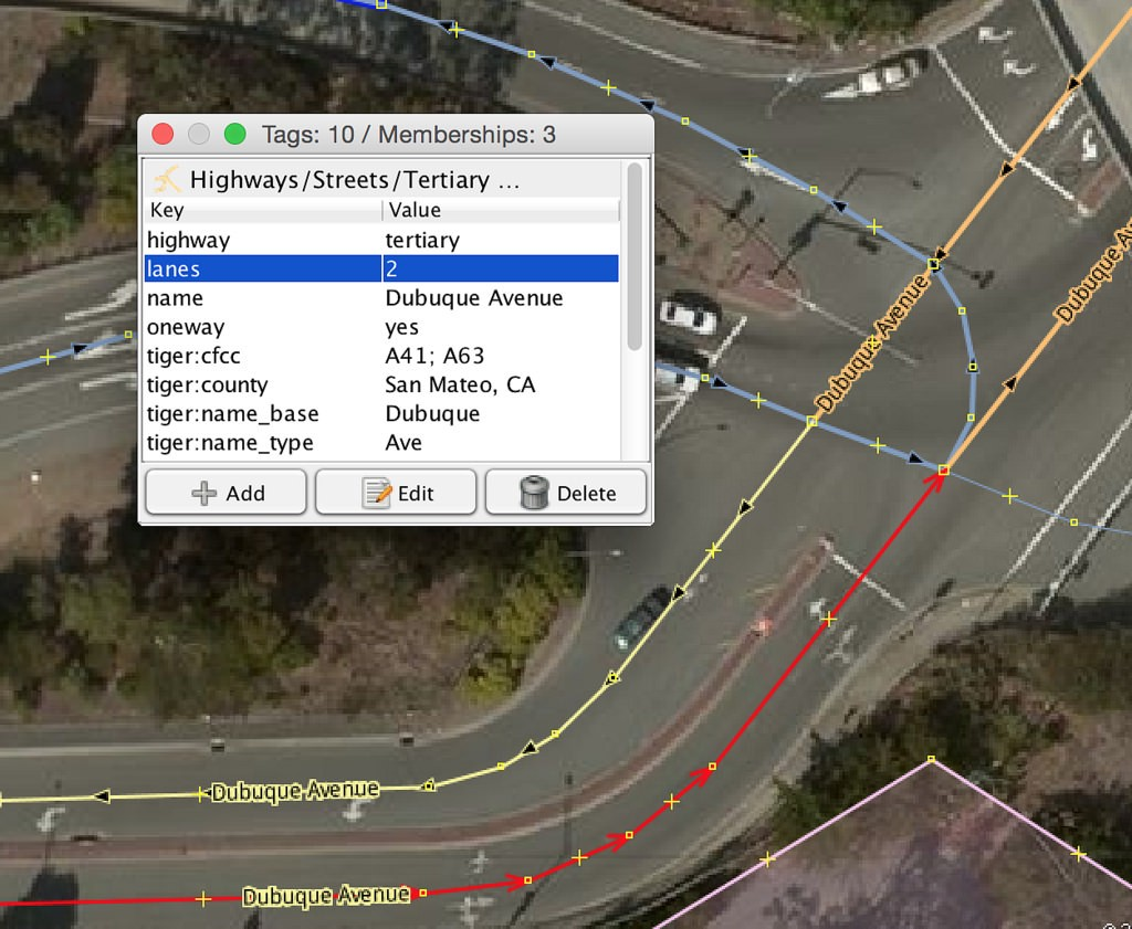 Mapping turn lanes in openstreetmap points of interest split the ways that will be parts of relations then for each turn lane restriction select the nodes and ways involved to define a rule sciox Gallery