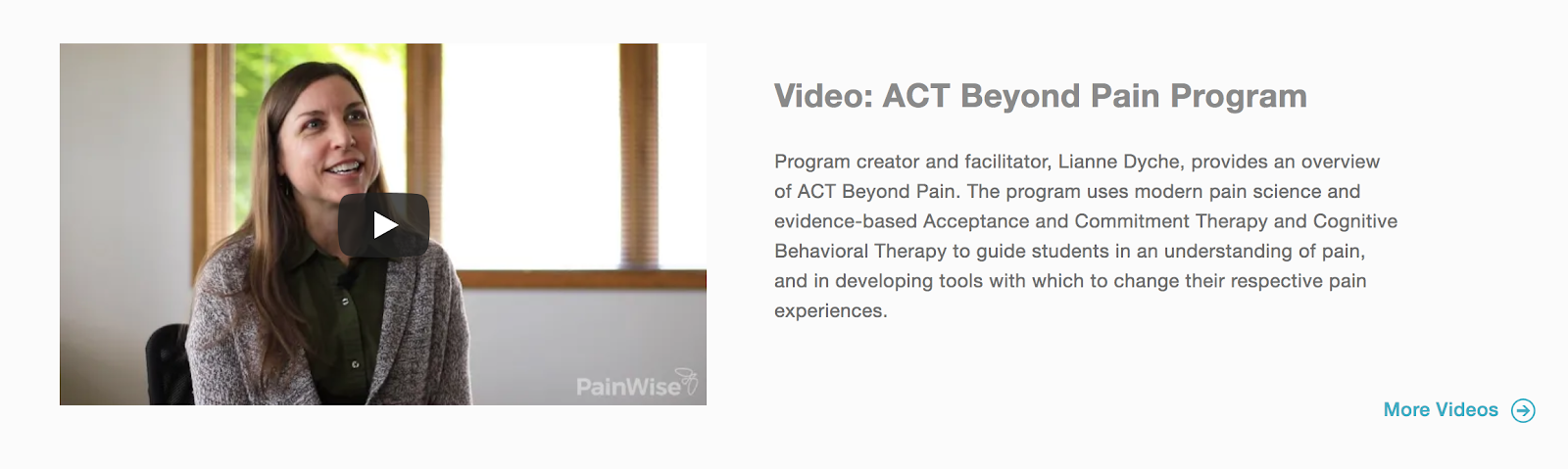 "Video with ""play"" button from PainWise.org"