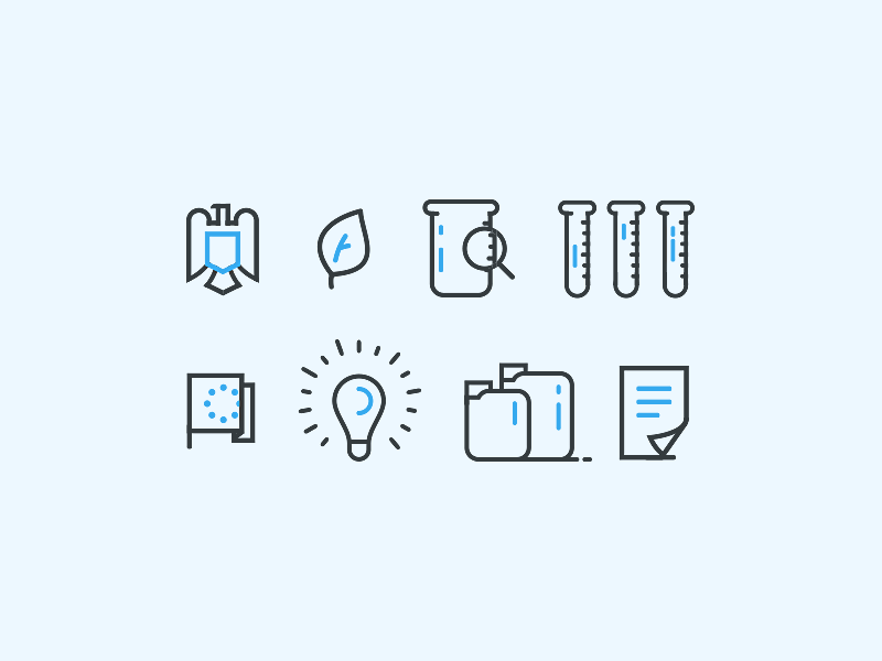 Swimming pool maintenance icons by Web Efficient