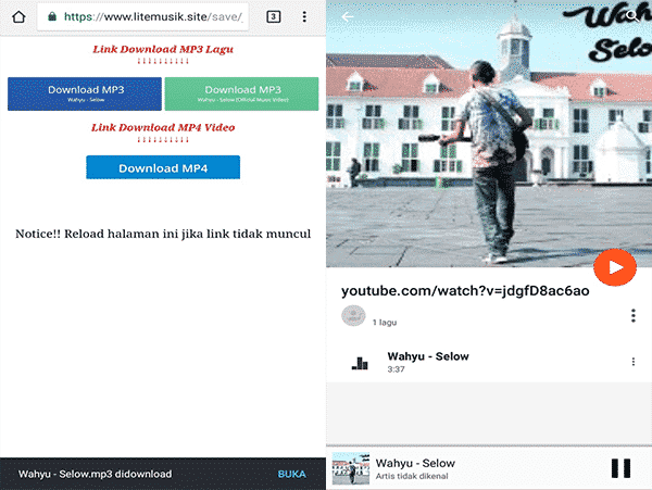 cara download lagu pada laptop