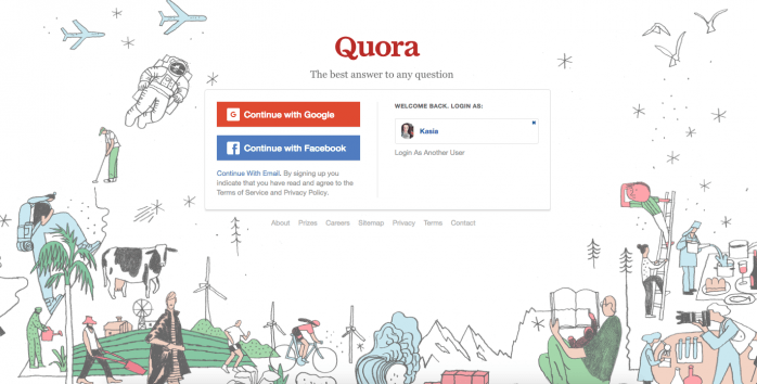 Quora-signup-page