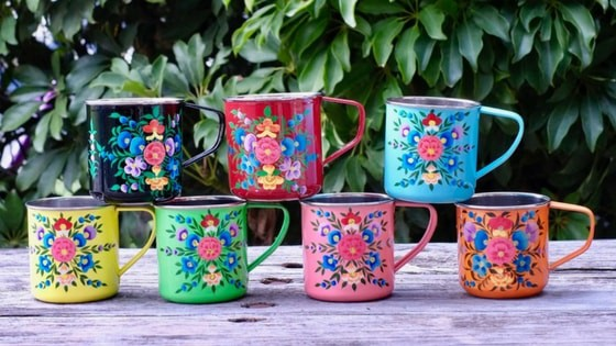 Kashmir Handicrafts Online Beautiful Hand Painted Art Of Kashmir