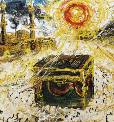 AFFANDI (INDONESIA, 1907-1990) KA'BAH signed with artist's monogram and dated '1981' (lower right) oil on canvas 111 x 150 cm. (43 3/4 x 59 in.) Painted in 1981
