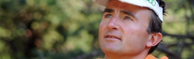 Swiss climber Ueli Steck pictured in Sigoyer, in the Hautes-Alpes department of south-eastern France, on August 13, 2015