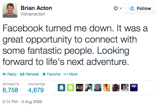 'Facebook turned me down'—the job rejection letter that turned into a $4 billion check