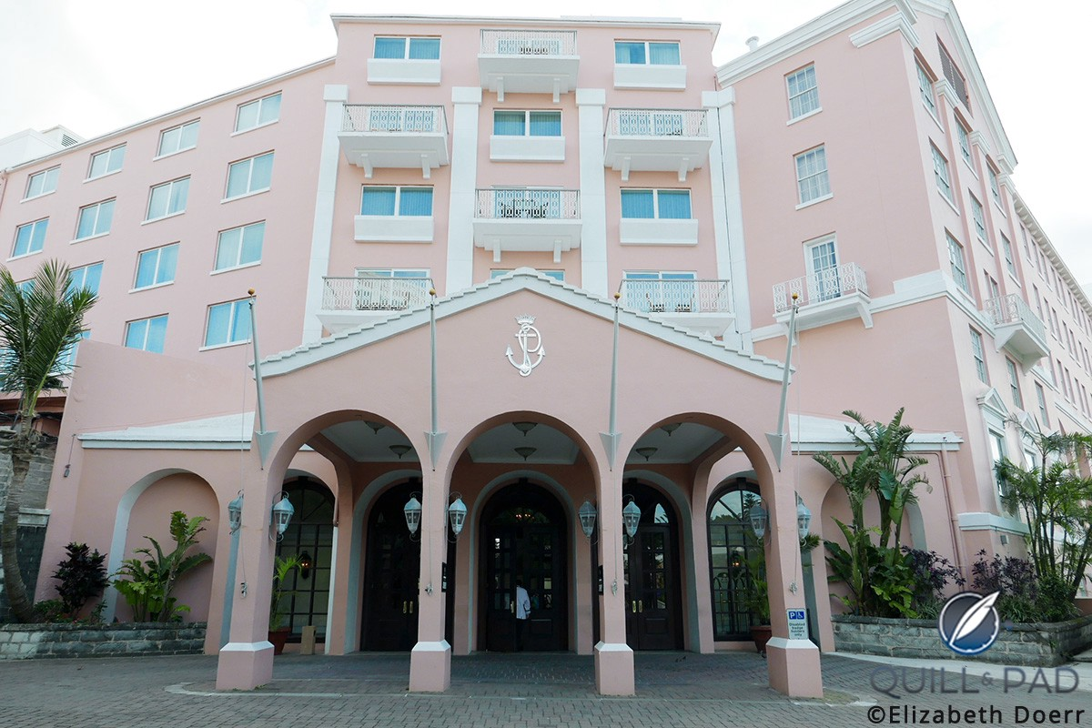 The entrance to the Hamilton Princess & Beach Club in Bermuda, which opened in 1885