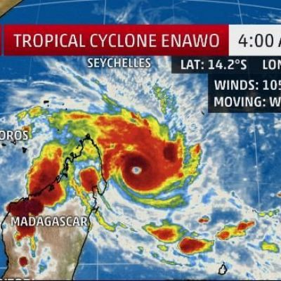 Tropical Cyclone Enawo Rapidly Intensifying; Red Alert Issued For a Potentially Disastrous Strike on Madagascar Tuesday
